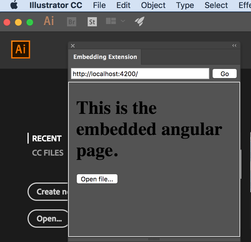 Debuggable and refreshing Adobe Extension with Angular and